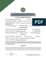 Patient's Report