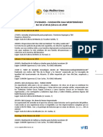 Fundación Caja Mediterráneo. Agenda de Actividades Destacadas. Segunda Quincena. Febrero 2018