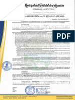 Resolución Gerencial 115-2017 Mda