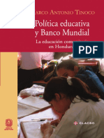 Politica Educativa y Banco Mundial. HONDURAS