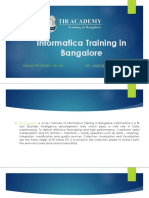 Informatica Training in Bangalore