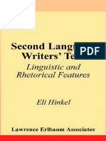 Second language writers text linguistic and rhetorical features second language writers text linguistic and rhetorical features by eli hinkel second language rhetoric fandeluxe Image collections