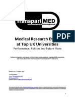 TranspariMED - Medical Research Ethics at Top UK Universities (2017)