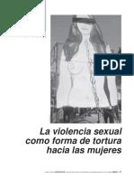La Violencia Sexual Como Forma de Tortura a Las Mujeres Carrera Caro