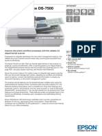 Epson WorkForce DS 7500 Datasheet