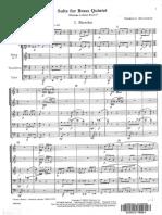 Score suite for brass quintet