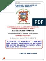 Bases para el Servicio de agregados