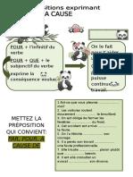 Les Prepositions Cause Exercice Grammatical Feuille Dexercices 6742[1]