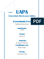 Tarea 4 - Sociologia de La Educacion - Olga Massiel