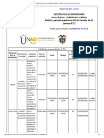 Agenda - Gestión de Las Operaciones - 2018 i Periodo 16-01 (Peraca 471)
