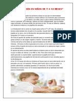 Alimentación en Niños de 7 a 12 Meses