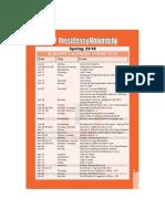 Academic Calendar Spring 2018