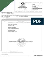 Draft Certificate of Origin