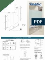 Guía de Instalación Kit para puerta de Baño corrediza Kinetic con cabezal redondo y botón