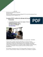La Gripe H1N1 Acelera La Reforma de Las Patentes en Venezuela