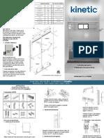 Guía de Instalación para Kit de Baño Corredizo Kinetic con Cabezal Tradicional con toallero