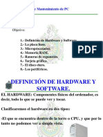 1- Hardware y Software