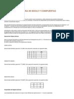 Álgebra de Boole y Compuertas.