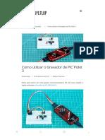 Como Utilizar o Gravador de PIC Pickit 3