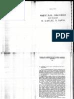 Gral. Manuel Savio - Artículos y discursos