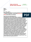 Executive Secretary Social Welfare Offer Letter