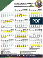 Calendario Académico 2018 UNSL