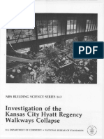 Investigation of the Kansas City Hyatt Regency Walkways Collapse. (NBS BSS 143)