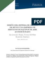 DISEÑO DEL SISTEMA DE GESTIÓN DE SST EN UNA EMPRESA DE SERVICIOS DE EQUIPOS DE AIRE ACONDICIONADO