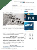 Gaceta Oficial N° 41.327_ Sumario _ FinanzasDigital