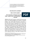 The Evaluation of Employment Policies for Older Adults in the Czech Republic, Poland, and Slovakia