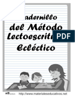 Cuadernillo Del Método Lectoescritura Ecléctico ME