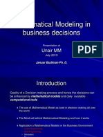 1.Mathematical Modeling in Business Decisions