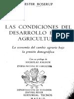 Las Condiciones Del Desarrollo en La Agricultura