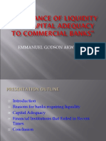 Importance of Liquidity and Capital Adequacy