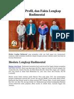 Biodata, Profil, Dan Fakta Lengkap Rudimental