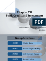Bank Credit and Investment Presentation