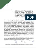 Protocolo de Intenções Segurança Pública Governo Federal e o Governo do Rio de Janeiro