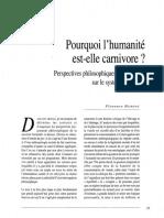 Florence Burgat - Pourquoi l Humanite Est-elle Carnivore%2C Perspectives Philosophiques de Recherche Sur Le Systeme Carnivore