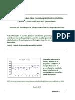 Benchmarking de Instituciones Tecnológicas Colombianas (2013)
