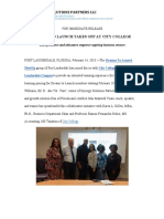 Dreams to Launch and City College Fort Lauderdale Partnership Press Release