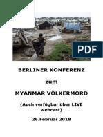 Programm - Berliner Konferenz Zur Myanmar Völkermord