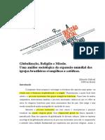 Globalização, Religião e Missão. Uma Análise Sociológica Da Expansão Mundial Das Igrejas Brasileiras Evangélicas e Católicas