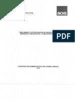 Reglamento de Prevencion de Riesgo Para Empresas Contratistas y Subcontratistas
