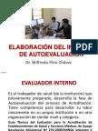 7. Elaboración Informe de Autoevaluación