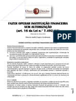 Art. 16 Da Lei de Crimes Contra o SFN