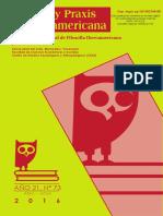 Utopia y praxis latinoamericana N. 73