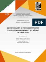 Reporte Experimental de Biorremediación de Suelos_Composteo