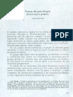 Jose Bleger - Temas de Psicología, Entrevista y Grupos