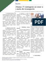 União 05-05-2017 -Mobilidade Urbana 5 vantagens ao usar a bicicleta como meio de transporte.pdf