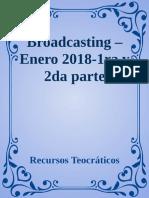 Broadcasting - Enero 2018-1ra y - Recursos Teocrat
